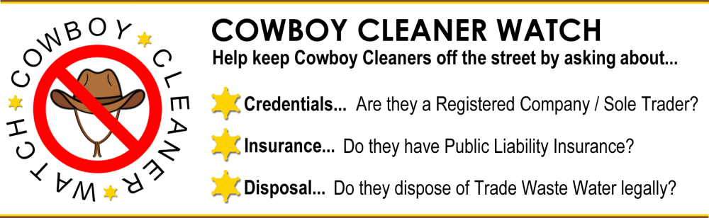 Help keep Cowboy Wheelie Bin Cleaners off the street - ask the right questions and look out for accredited accredited cleaners
